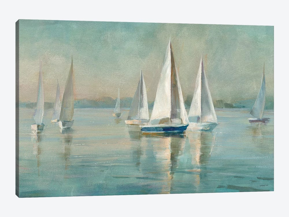 Sailboats at Sunrise by Danhui Nai 1-piece Canvas Print