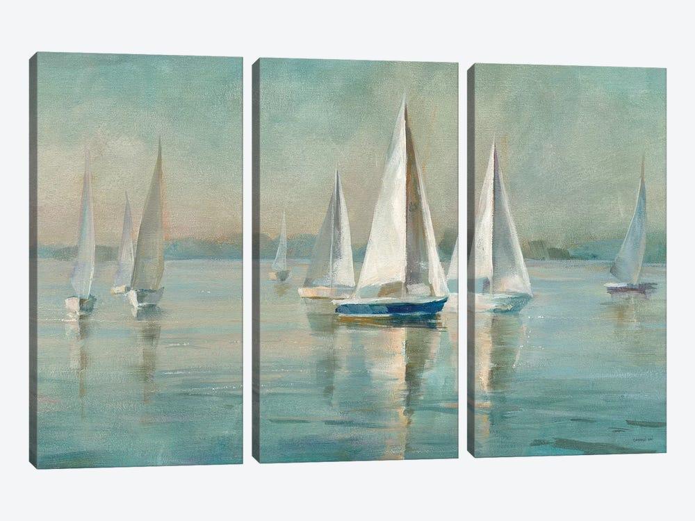 Sailboats at Sunrise by Danhui Nai 3-piece Canvas Art Print