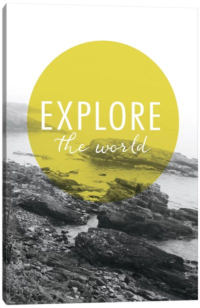 Explore the World Canvas Art Print