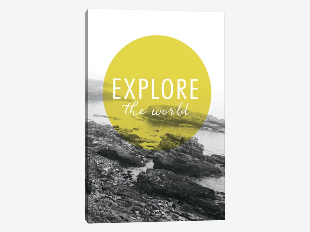 Explore the World 1-piece Canvas Art Print