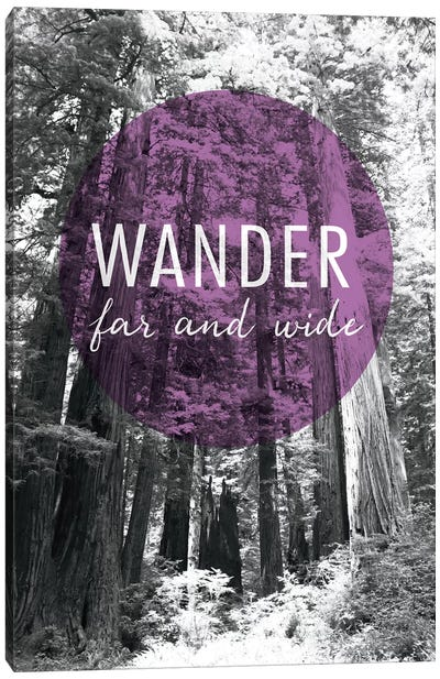 Wander Far and Wide Canvas Art Print