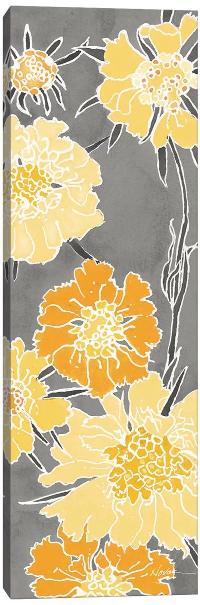 Cloisonne Beauty I Gray Canvas Art Print