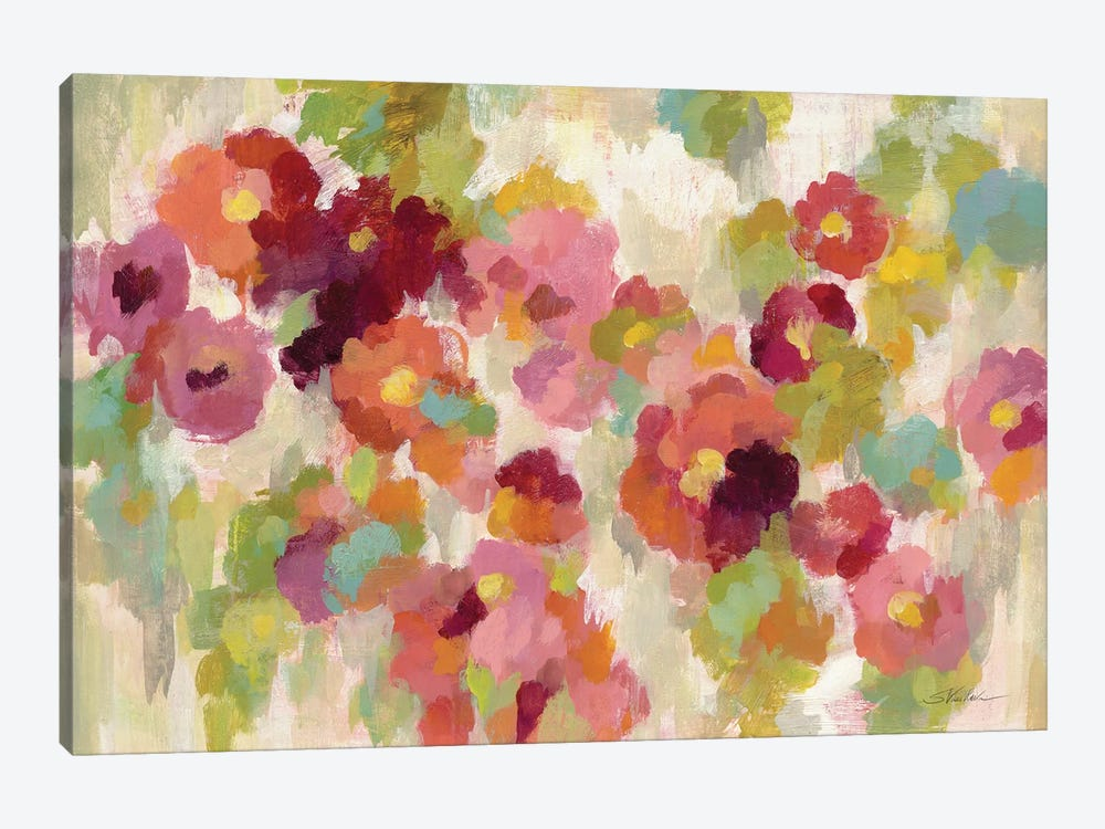 Coral and Emerald Garden I by Silvia Vassileva 1-piece Art Print