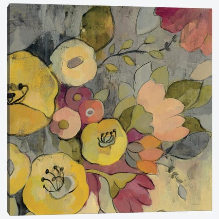 Yellow Floral Duo I Canvas Print #WAC3996} by Silvia Vassileva Canvas Art Print