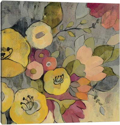 Yellow Floral Duo I Canvas Print #WAC3996