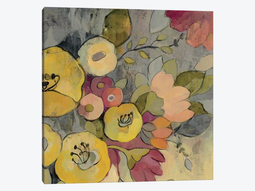 Yellow Floral Duo I by Silvia Vassileva 1-piece Canvas Art Print