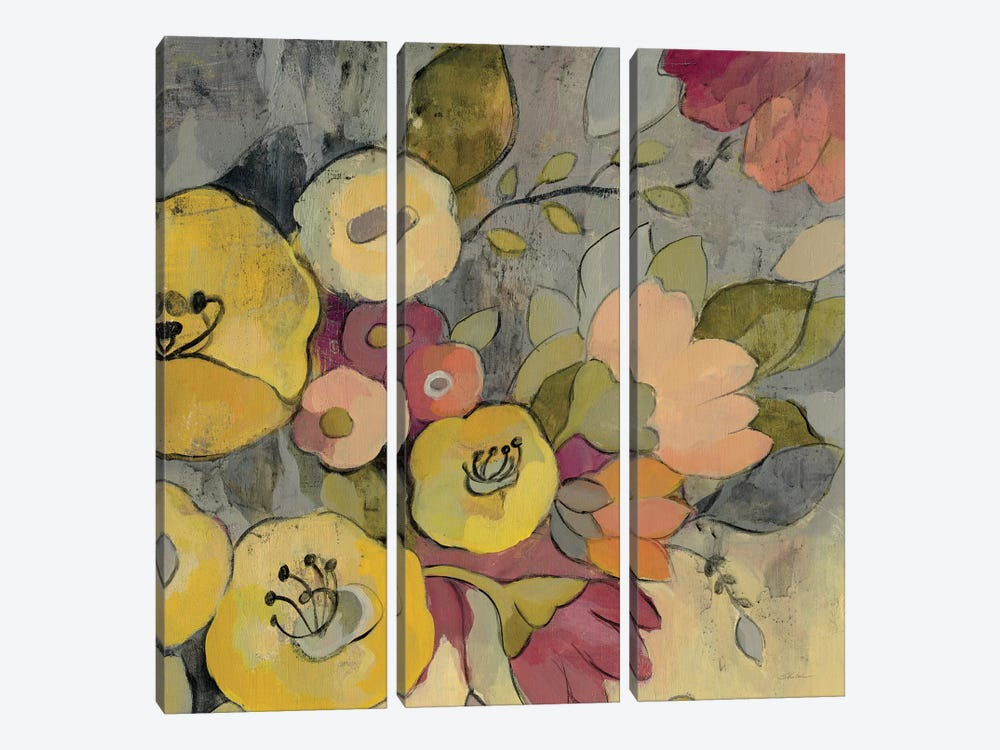 Yellow Floral Duo I by Silvia Vassileva 3-piece Art Print