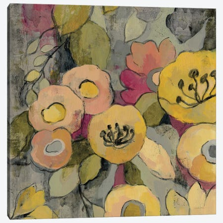 Yellow Floral Duo II Canvas Print #WAC3997} by Silvia Vassileva Art Print