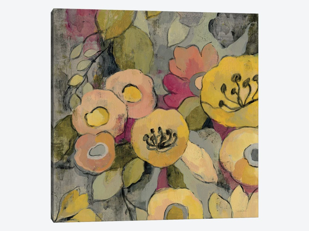 Yellow Floral Duo II by Silvia Vassileva 1-piece Canvas Artwork