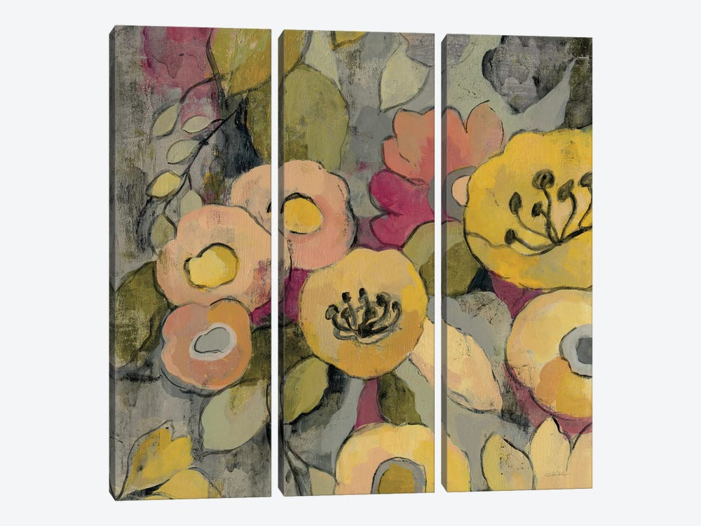 Yellow Floral Duo II by Silvia Vassileva 3-piece Canvas Artwork