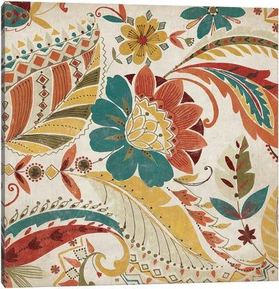 Boho Paisley Spice I Canvas Print #WAC3998