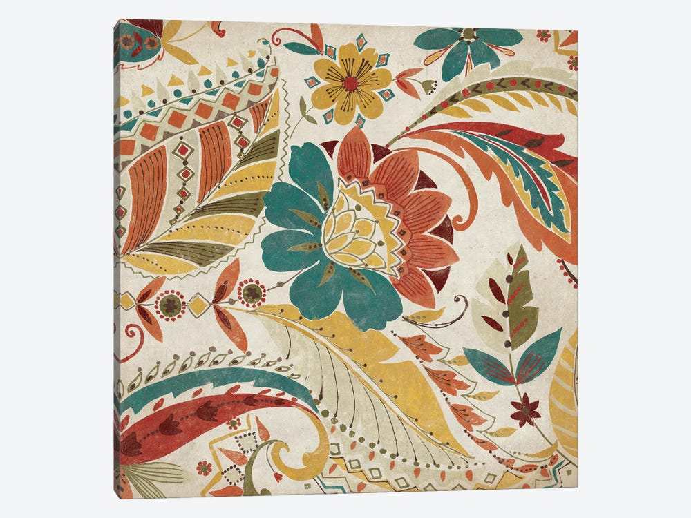 Boho Paisley Spice I by Wild Apple Portfolio 1-piece Art Print