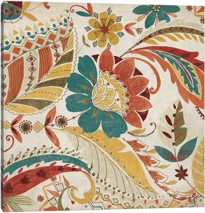 Boho Paisley Spice I Canvas Art Print