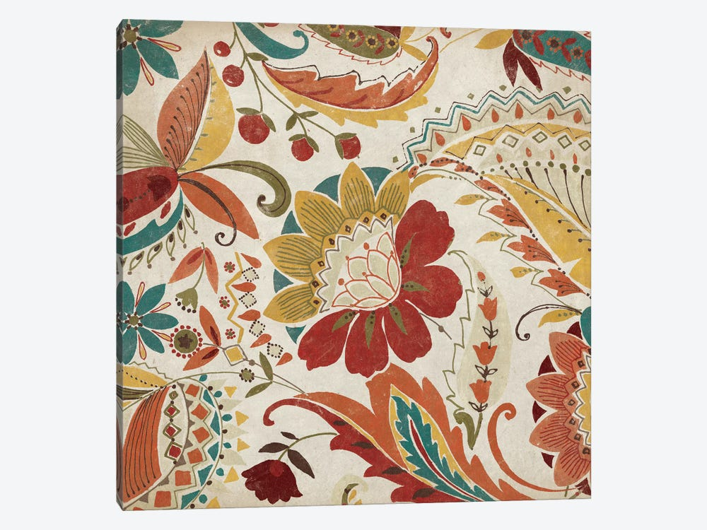 Boho Paisley Spice II 1-piece Canvas Wall Art