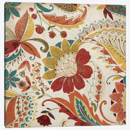 Boho Paisley Spice II 3-Piece Canvas #WAC3999} by Wild Apple Portfolio Canvas Artwork