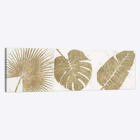 Gold Leaves Triptych Canvas Print Set #WAC3HSET022} by Wellington Studio Canvas Art