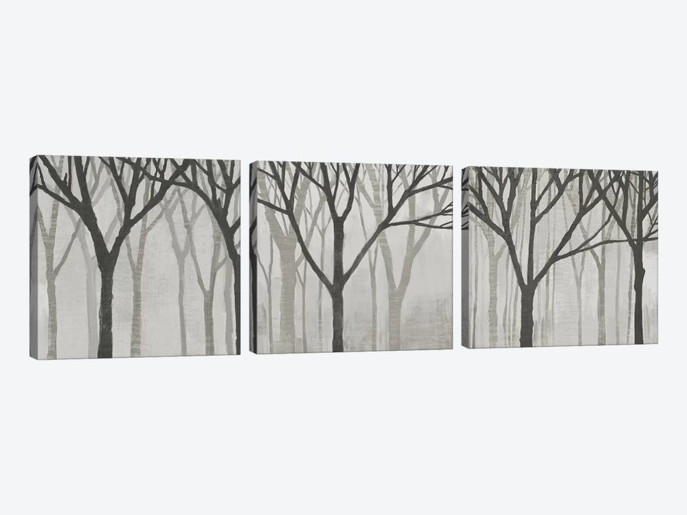 Spring Trees Greystone Triptych by Kathrine Lovell 3-piece Canvas Artwork