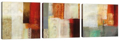 Warmth Triptych Canvas Art Print
