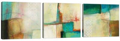 Circles Triptych Canvas Art Print