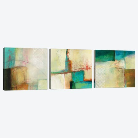 Circles Triptych Canvas Print Set #WAC3HSET110} by Jane Davies Canvas Artwork