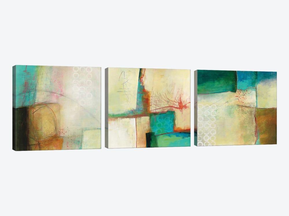 Circles Triptych by Jane Davies 3-piece Canvas Artwork
