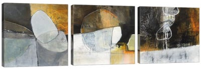 Abstract Pebble Triptych Canvas Art Print