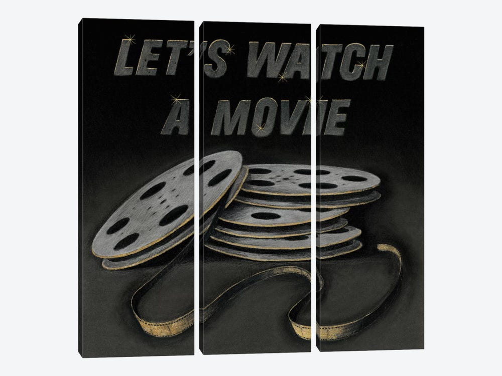 Lets Watch a Movie 3-piece Art Print