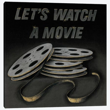 Lets Watch a Movie Canvas Print #WAC4001} by Wild Apple Portfolio Canvas Art Print