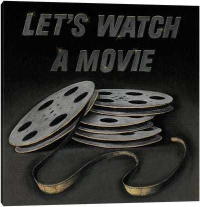 Lets Watch a Movie Canvas Art Print