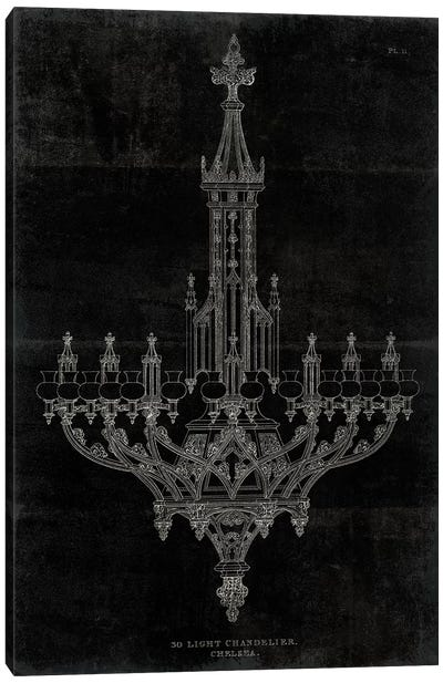 Ornamental Metal Work Chandelier Canvas Art Print