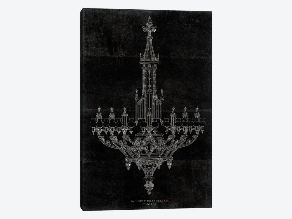 Ornamental Metal Work Chandelier by Wild Apple Portfolio 1-piece Canvas Wall Art