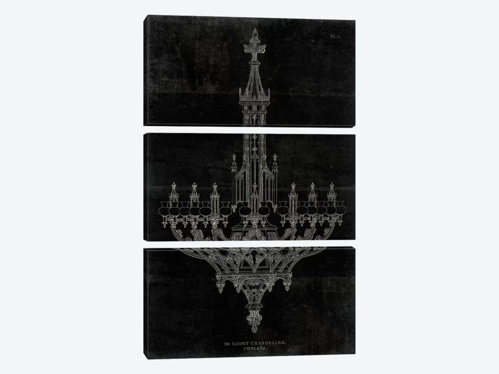 Ornamental Metal Work Chandelier by Wild Apple Portfolio 3-piece Canvas Wall Art