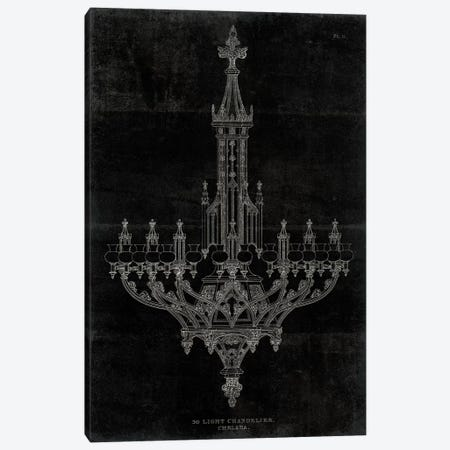 Ornamental Metal Work Chandelier 3-Piece Canvas #WAC4002} by Wild Apple Portfolio Canvas Art Print