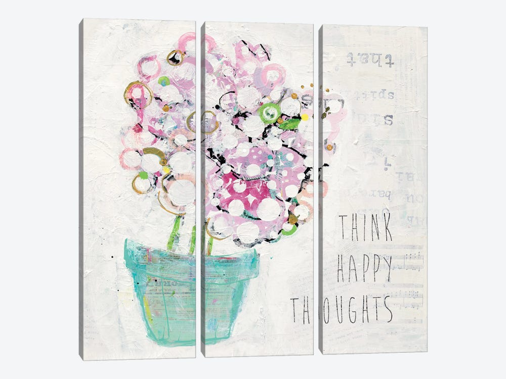 Hidden Inspiration by Kellie Day 3-piece Canvas Print