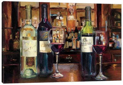 A Reflection Of Wine by Marilyn Hageman Canvas Art Print