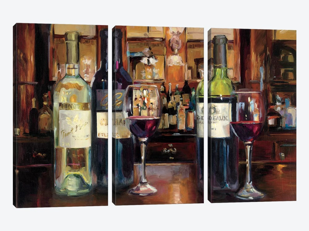 A Reflection Of Wine by Marilyn Hageman 3-piece Canvas Print