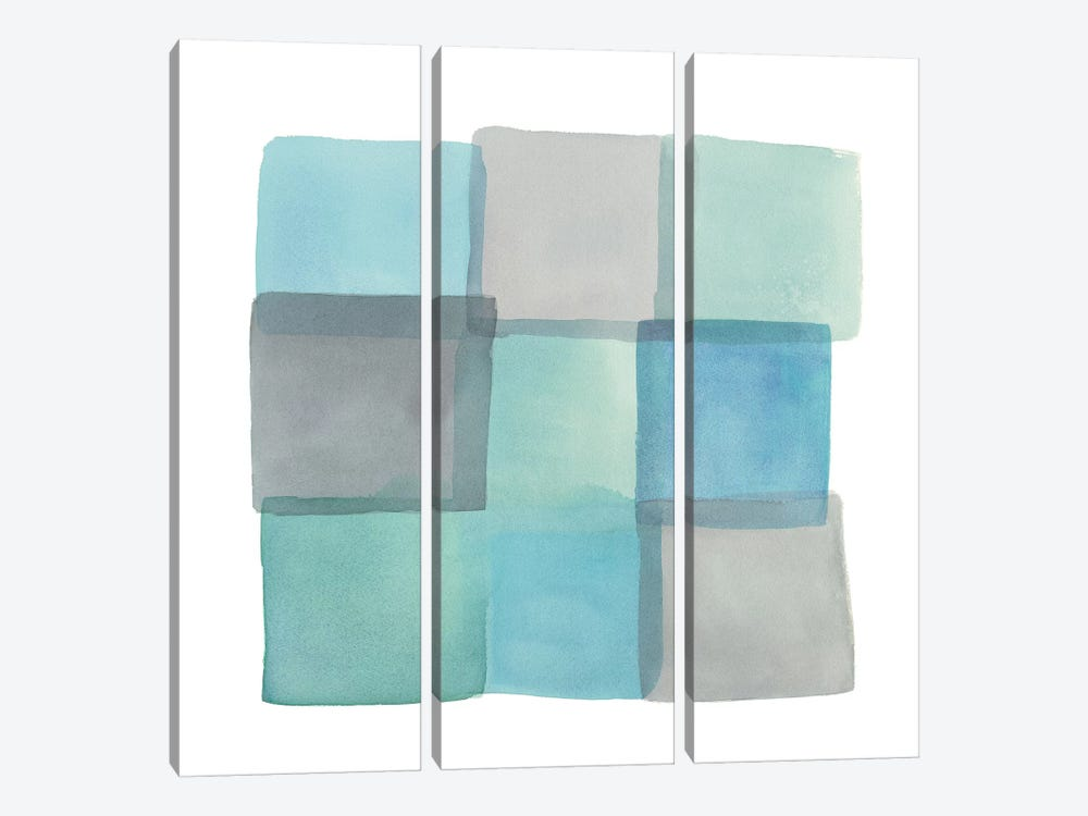Overlap II by Mike Schick 3-piece Canvas Art Print