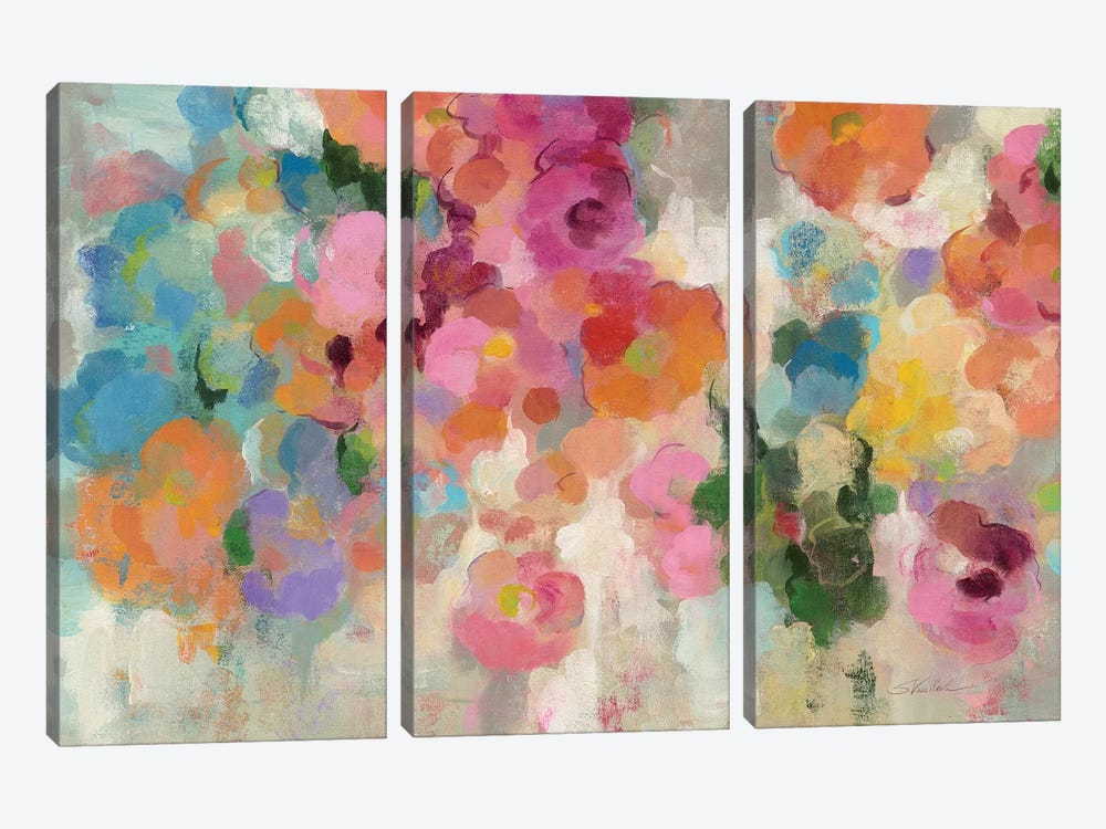 Colorful Garden I by Silvia Vassileva 3-piece Canvas Art