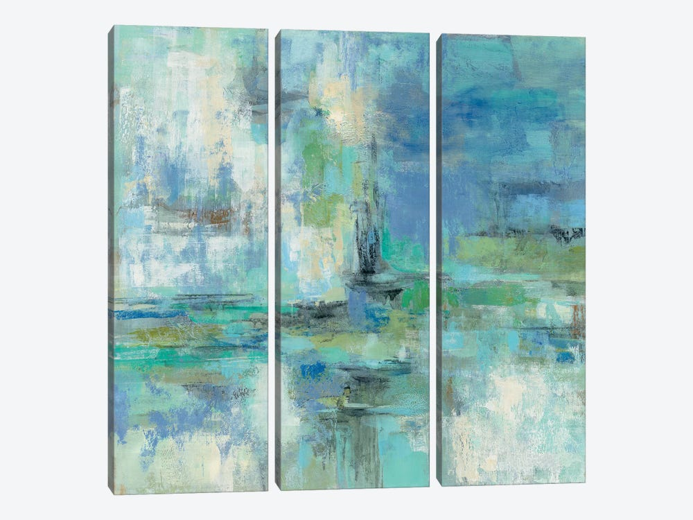Morning Port by Silvia Vassileva 3-piece Canvas Art Print