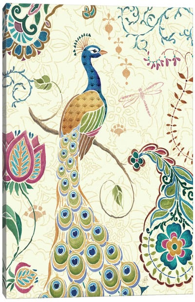 Peacock Fantasy II  Canvas Art Print