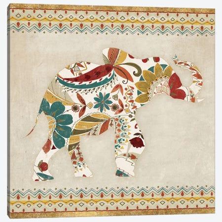 Boho Elephant I Canvas Print #WAC4021} by Wild Apple Portfolio Canvas Art Print