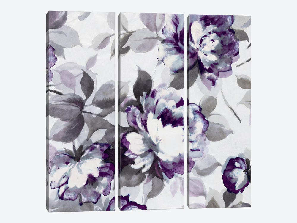 Scent Of Plum Roses II 3-piece Canvas Print