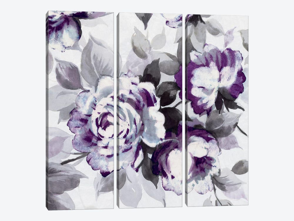 Scent Of Plum Roses III by Wild Apple Portfolio 3-piece Canvas Artwork