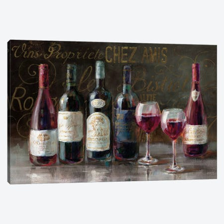 Bistro Reds V.2 Canvas Print #WAC4027} by Danhui Nai Canvas Art