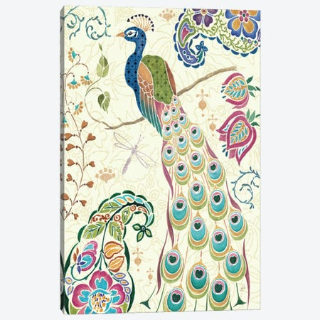 Peacock Fantasy III  Canvas Print #WAC402} by Daphne Brissonnet Canvas Wall Art