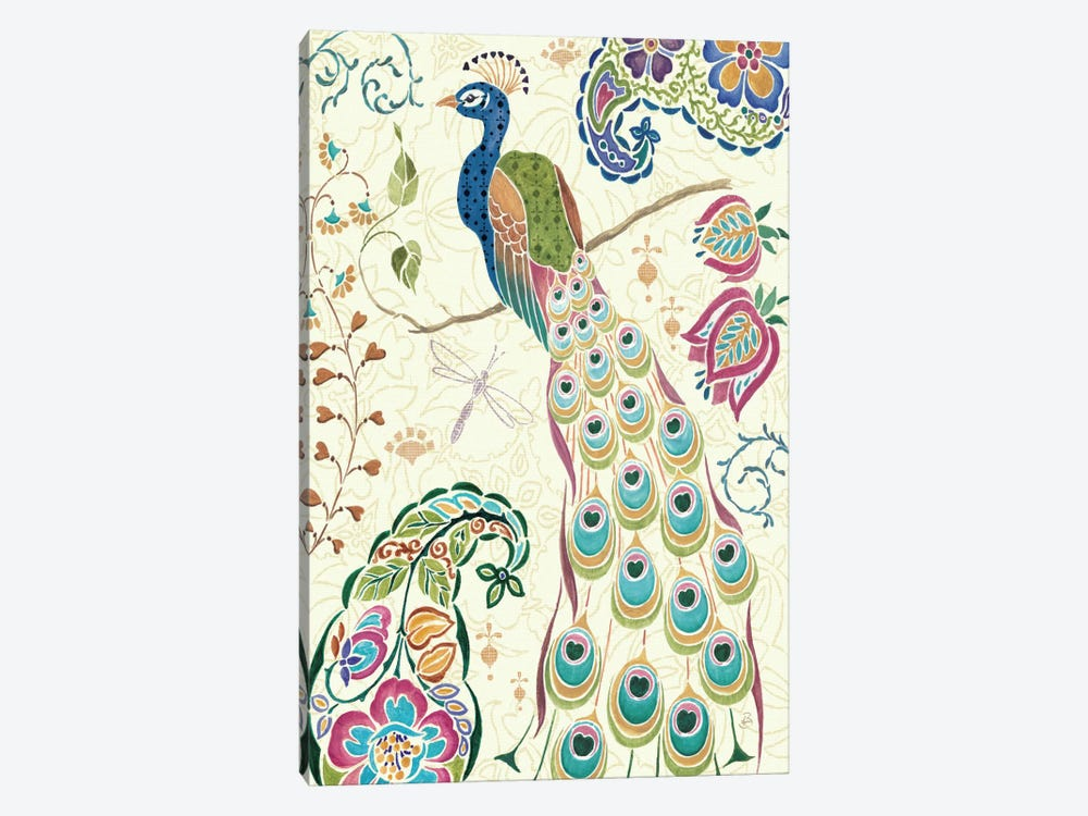 Peacock Fantasy III  by Daphne Brissonnet 1-piece Canvas Art Print