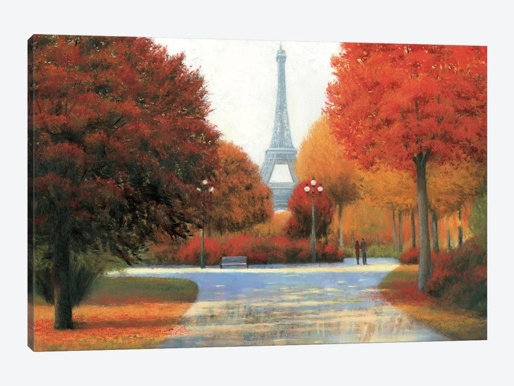 Autumn In Paris Couple by James Wiens 1-piece Art Print