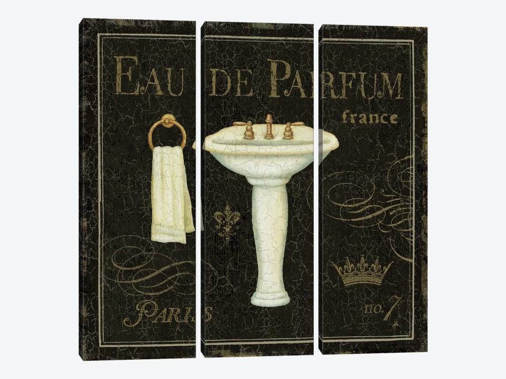 Bain De Luxe III by Daphne Brissonnet 3-piece Canvas Art