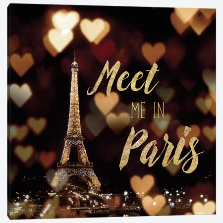Meet Me In Paris Canvas Print #WAC4040} by Laura Marshall Canvas Art Print