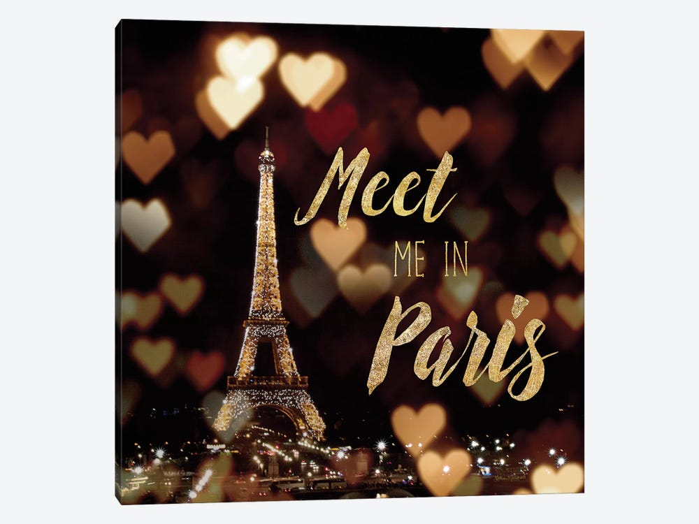 Meet Me In Paris by Laura Marshall 1-piece Canvas Wall Art